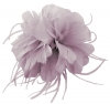 Failsworth Millinery Feather Fascinator in Oyster