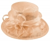 Elegance Collection Sinamay Loops Wedding Hat in Pale Pink