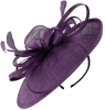 Failsworth Millinery Loops and Feathers Disc Headpiece in Pansy