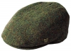 Failsworth Millinery Stornoway Harris Tweed Flat Cap (Latest Version) in Pattern 2016 - Brown