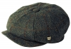 Failsworth Millinery Carloway Harris Tweed Baker Boy Cap (Latest Version) in Pattern 2018 - Grey