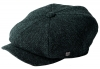 Failsworth Millinery Carloway Harris Tweed Baker Boy Cap (Latest Version) in Pattern 3302 - Navy