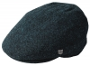 Failsworth Millinery Stornoway Harris Tweed Flat Cap (Latest Version) in Pattern 3302 - Navy