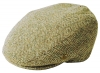 Failsworth Millinery Stornoway Harris Tweed Flat Cap (Latest Version) in Pattern 3397 - Beige