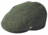 Failsworth Millinery Stornoway Harris Tweed Flat Cap (Latest Version) in Pattern 5018 - Grey