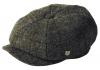 Failsworth Millinery Carloway Harris Tweed Baker Boy Cap (Latest Version) in Pattern 5019 - Grey