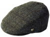 Failsworth Millinery Stornoway Harris Tweed Flat Cap (Latest Version) in Pattern 5019 - Grey