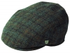 Failsworth Millinery Stornoway Harris Tweed Flat Cap (Latest Version) in Pattern 6020 - Grey Checked