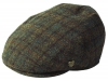 Failsworth Millinery Stornoway Harris Tweed Flat Cap (Latest Version) in Pattern 6030 - Grey Checked