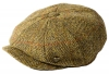 Failsworth Millinery Carloway Harris Tweed Baker Boy Cap (Latest Version) in Pattern 9046 - Taupe