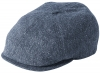 Failsworth Millinery Silk Mix Hudson Bakerboy Cap in Pattern 186 - Grey