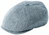 Failsworth Millinery Silk Mix Hudson Bakerboy Cap in Pattern 195 - Light Grey