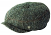 Failsworth Millinery Carloway Harris Tweed Baker Boy Cap (Latest Version) in Pattern 2012 - Grey