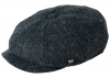 Failsworth Millinery Carloway Harris Tweed Baker Boy Cap (Latest Version) in Pattern 3001 - Navy