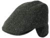 Failsworth Millinery Oban Tweed Wool Flat Cap in Pattern 3002 - Black
