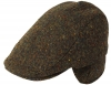 Failsworth Millinery Oban Tweed Wool Flat Cap in Pattern 3003 - Brown