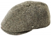 Failsworth Millinery Wexford Tweed Bakerboy Cap in Pattern 303 - Grey