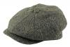 Failsworth Millinery Carloway Flat Cap in Pattern 4615 - Grey