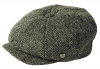 Failsworth Millinery Carloway Harris Tweed Baker Boy Cap (Latest Version) in Pattern 4615 - Grey