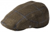 Failsworth Millinery Gamekeeper Wool Flat Cap in Pattern 529 - Mocha