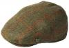 Failsworth Millinery Gamekeeper Wool Flat Cap in Pattern 553 - Beige