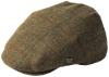 Failsworth Millinery Gamekeeper Wool Flat Cap in Pattern 560 - Brown