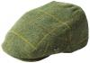 Failsworth Millinery Gamekeeper Wool Flat Cap in Pattern 567 - Green