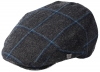 Failsworth Millinery Gamekeeper Wool Flat Cap in Pattern 583 - Charcoal