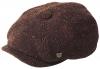 Failsworth Millinery Malmo Tweed Baker Boy Cap in Pattern 834 - Burgundy