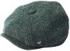 Failsworth Millinery Malmo Tweed Baker Boy Cap in Pattern 839 - Teal