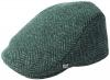Failsworth Millinery Stockholm Wool Tweed Flat Cap in Pattern 839 - Teal