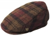 Failsworth Millinery Longford Flat Cap in Pattern 842 - Red