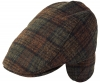 Failsworth Millinery Westerdale Wool Flat Cap in Pattern 856 - Brown