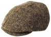 Failsworth Millinery Hudson Donegal Six Piece Cap in Pattern 862 - Brown Multi-Flecked