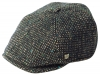 Failsworth Millinery Hudson Donegal Six Piece Cap in Pattern 864 - Grey Multi-Flecked