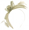 Failsworth Millinery Aliceband Sinamay Fascinator in Pearl-Silver