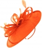 Failsworth Millinery Loops and Feathers Disc Headpiece in Persimmon