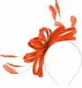 Failsworth Millinery Sinamay Loops Fascinator in Persimmon