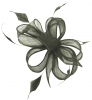 Hawkins Collection Sinamay Fascinator in Pewter