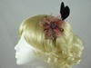 Feather Flower Fascinator in Dusky Pink