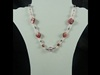 Natural Stone Necklace in Pink