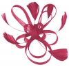 Aurora Collection Fascinator with Loops and Feathers in Pink / Cerise