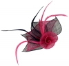 Aurora Collection Rose Two Tone Fascinator in Pink & Navy