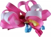 Ribbon Loops Hair Accessory in Pink & White