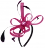 Aurora Collection Fascinator with Loops and Gem in Pink
