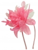 Aurora Collection Flower Aliceband Fascinator in Pink
