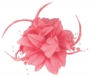 Aurora Collection Flower Fascinator in Pink