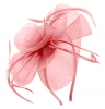 Aurora Collection Swirl & Biots Fascinator on aliceband in Pink