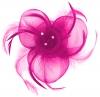 Aurora Collection Swirl and Biots with Diamantes Fascinator in Pink