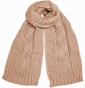 Boardman Darby Ladies Cable Knit Scarf in Pink